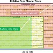 Relative Year-Planner sizes