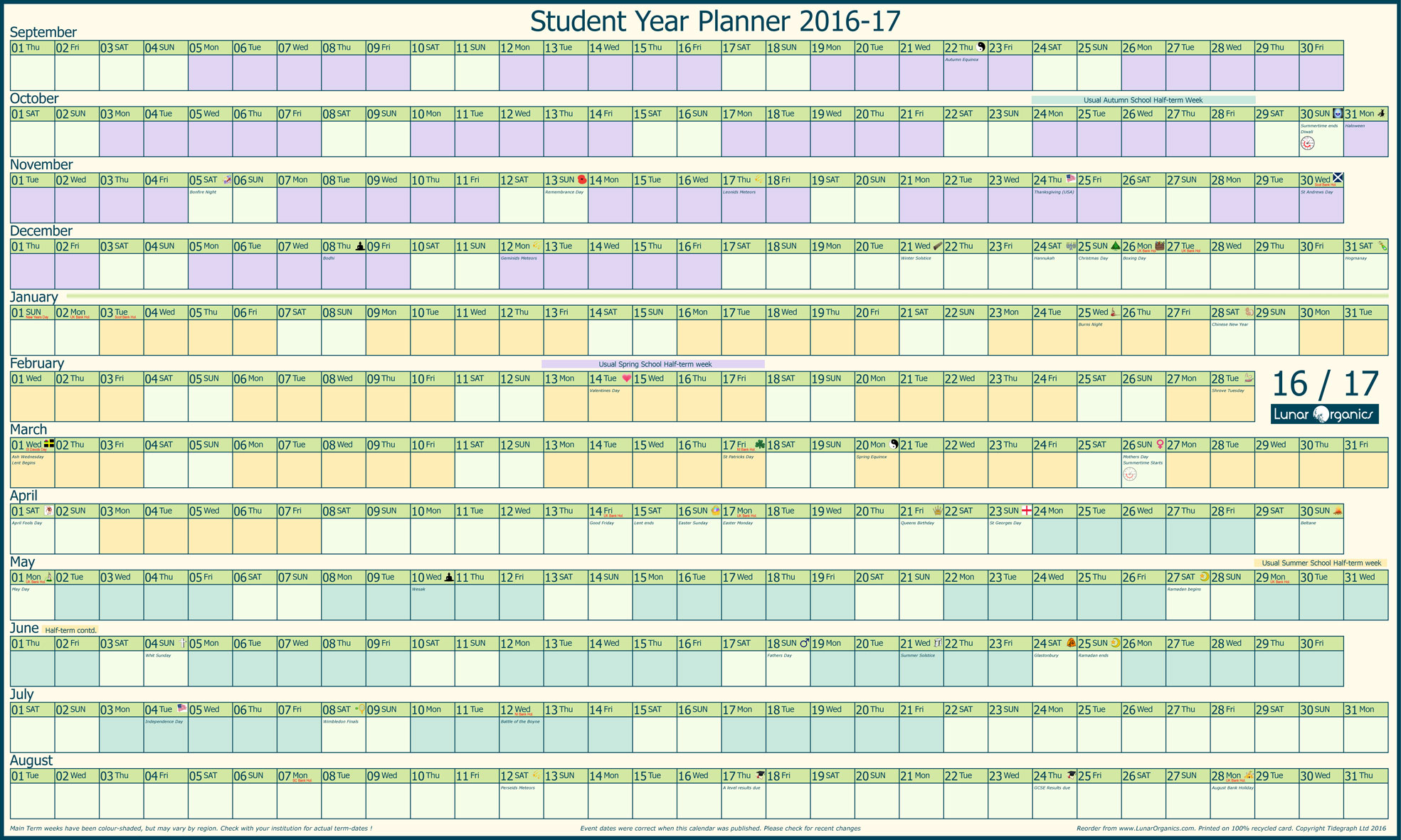 yearly planners