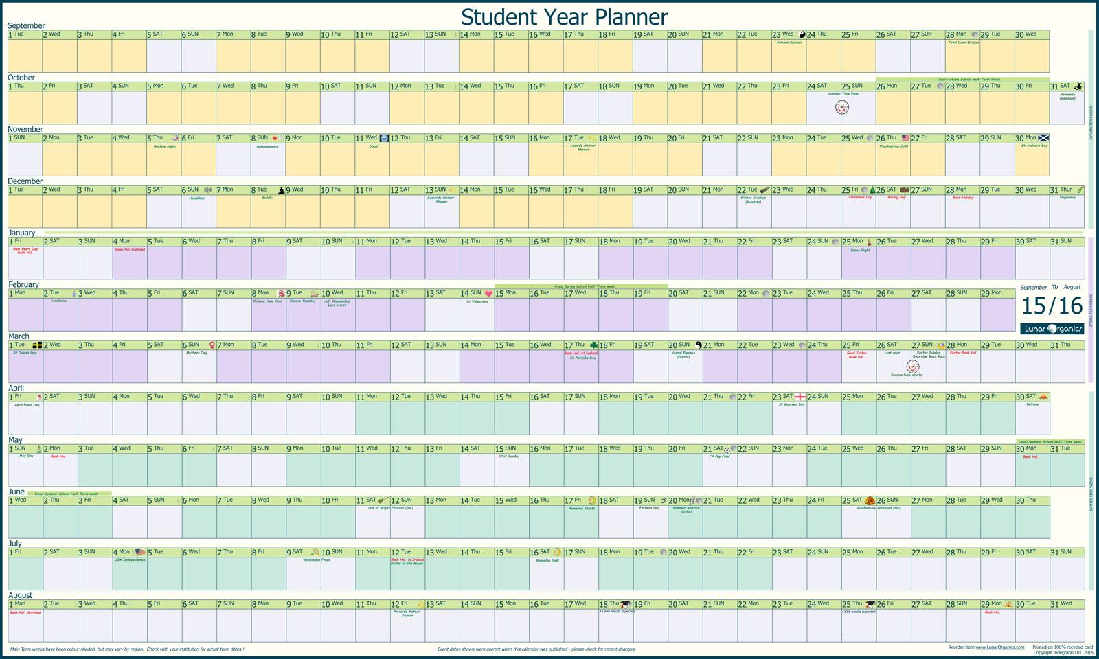 Calendar 2015 Year Planner 2015 Yearly Calendar 2015 Calendar 2015 ...